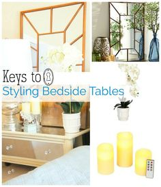 Keys to styling bedside tables