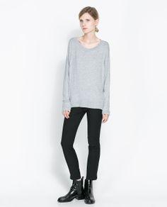 ZARA - WOMAN - VISCOSE BOAT NECK T-SHIRT