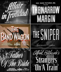 Typography in Movie Titles | Three Eggs Design: Printable Wedding ...