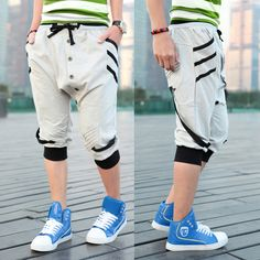 South Korean fashion design Men's casual cotton leisure 7 minutes of pants  Summer school wear  Free shipping  size: M   XXL-inPants from Ap...