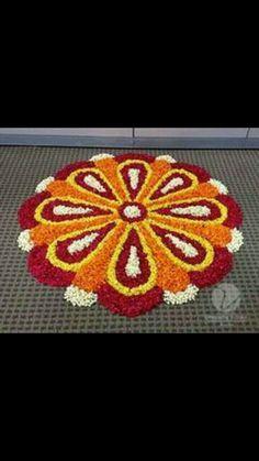 Picture result for diwali decoration FLOWER Indian Rangoli Designs, Rangoli Designs Flower, Rangoli Patterns, Colorful Rangoli Designs, Rangoli Ideas, Rangoli Designs Images, Flower Rangoli, Beautiful Rangoli Designs, Flower Designs