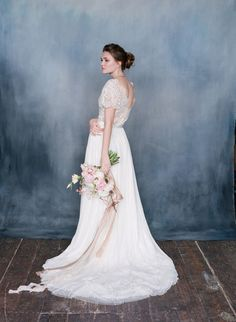 SERAPHINA lace bohemian wedding gown / http://www.deerpearlflowers.com/emily-riggs-bridal-romantic-lace-wedding-dresses/