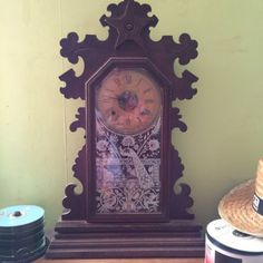 Antique victorian 1880's ansonia oak #gingerbread #striking #clock working and ke,  View more on the LINK: 	http://www.zeppy.io/product/gb/2/262403395170/