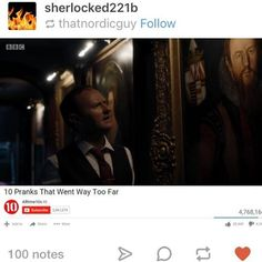 Like Sherlock really? That beginning was like the beginning of a horror movie....