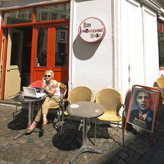 The Laundromat Café | Copenhagen - I guess these do exist! Look! There's a hipster!
