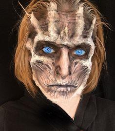 31 Days of Halloween: Day 9 White Walker #awigwouldcompletethis #31daysofhalloween #31daysofhalloweenmakeup #31daysofhorror #whitewalker #got #gameofthrones #thrones #winteriscoming #sfx #sfxmakeup #fxmakeup #fxmakeupartist #sfxmakeupartist #motd #wetnwild #wetnwildbeauty #fantasymakers #featuremuas #beardedhorror #mehron #featureme #halloween #halloweenfeature #halloweenmakeup #halloweencostume #