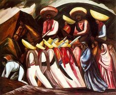 Zapatista's Marching, 1931  Jose Clemente Orozco
