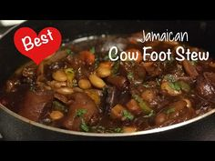 This is Cow Foot Recipe is absolutely delicious, a definite Must-Try. This recipe is also for my Jamaican and Carib. Jamaican Cuisine, Jamaican Dishes, Jamaican Recipes, Meat Recipes, Indian Food Recipes, Cooking Recipes, Healthy Recipes, Caribbean Recipes, Caribbean Food