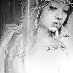 niki23gtr  Niki Norberg i love her sketchwork and the shding she does with the pencil