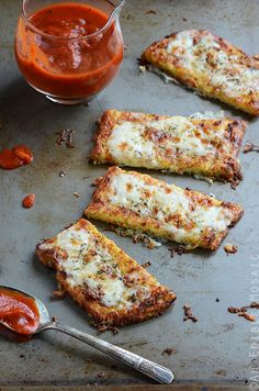 "Cauliflower Crust Garlic ""Breadsticks"""