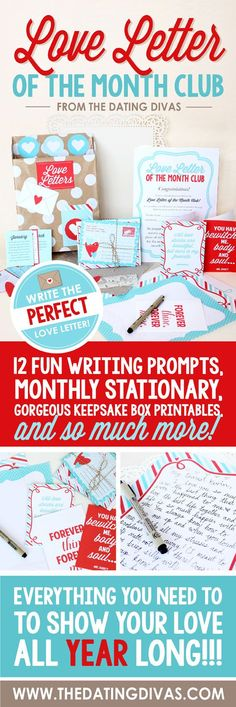 Wondering what sweet message you're going to manage to come up with every month? Well, think again. I adore these creative writing prompts! This seriously sold me on the product - it makes customizing something thoughtful super easy! Love Letter Writing Prompts There is seriously sooo much to this awesome pack!  Go and snatch it up, and bring back the power of words in your relationship!