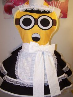 French Maid Minion Apron Pin Up Style by WellLaDiDa on Etsy, $50.00