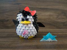 Origami 3D - Pinguin Origami And Kirigami, Origami Paper, Samurai, Origami Modular, Bowser, Christmas, Quilling, Ideas, Decor