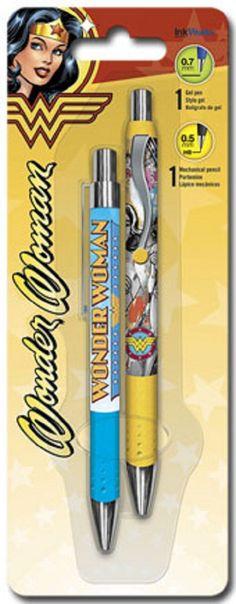 InkWorks Wonder Woman Pen and Pencil