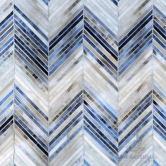 Ombre Chevron jewel glass mosaic in Lavastone, Zircon, and Alabaster Marble Mosaic, Mosaic Glass, Mosaic Tiles, Marble Art, Tiling, Chevron Tile, Geometric Tiles, Geometric Decor, Geometric Patterns
