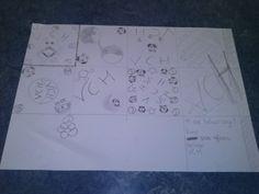 We hadden eerst een dierenberoep getekend (kijk andere pin). Nu moesten we een tegel ontwerp maken. Je moest er zes maken van tien bij tien centimeter. Ik heb de tegel linksboven in gekozen.
