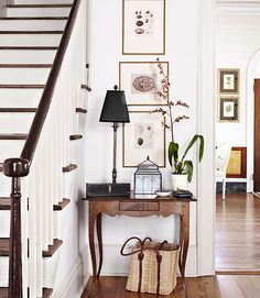Renovating a Historic Home in Mississippi The couple found the spindles, newel post, and banister of their new staircase in the offices of a Design Entrée, House Design, Design Ideas, Stair Design, Foyer Design, Design Inspiration, Hall Design, Garden Inspiration, Small Foyers