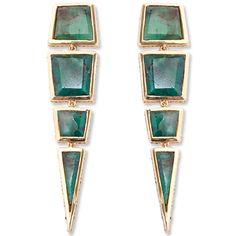 Maiyet Machu Picchu Earrings #emerald #coloroftheyear