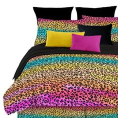 Amazon.com: Street Revival Rainbow Leopard Full Comforter Set, Multi: Home & Kitchen SALE $35.47 & eligible for FREE Super Saver Shipping  find more items like this at www.ddsgiftshop.com visit and like us on facebook here www.facebook.com/pages/DDs-Gift-Shop/113955198649056