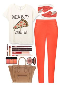 """pizza day"" by ecem1 ❤ liked on Polyvore featuring Andrea Marques, Ash, CÉLINE, Charlotte Tilbury, women's clothing, women's fashion, women, female, woman and misses"