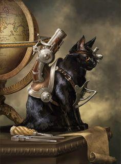 'Trigger the cat' by Ruslan Svobodin