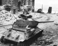 A pair of T-34-85s knocked out around the corner from the Reichstag.jpg