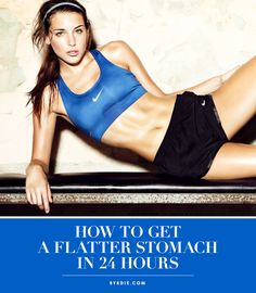 How to fight bloating and flatten your belly, FAST! // #Fitness