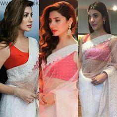 White Saree is trending among Pakistani Celebrities   Style.Pk