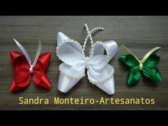 DIY: Borboleta Boutique, feita com fita de cetim 1, 1,5 e 2/ Sandra Monteiro - YouTube
