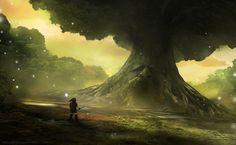 Deku Tree Fanart - legend of Zelda, Jeff Brown