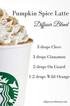 PSL - Pumpkin Spice Latte Diffuser Blend, essential oil diffuser blend, doterra