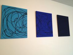 DIY Canvas Art - Ombré Blue Swirls by Lauren Janolino