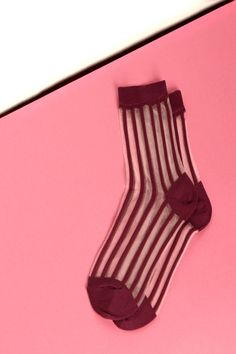 32 Socks That Deserve To Be Seen #refinery29  http://www.refinery29.com/best-pattern-socks#slide-18  See-through plus stripes just because.