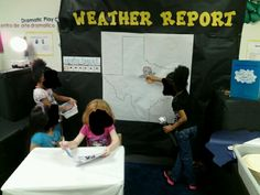 Dramatic play-weather station