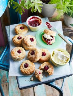 This double raspberry and clotted cream scones recipe has a light texture and a nice fruity tang from the fresh raspberries. Serve with jam and even more clotted cream!