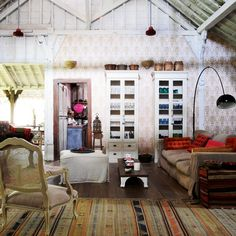 Home and Delicious: being there – on a tropical island hideaway Decor, Interior, Villa Style, Eclectic Home, Loft Bed, Living Etc, Home Decor, Yellow Houses, Hideaway