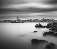 Maiden's Tower by Yavuz Pancareken - Photo 198882421 / 500px.  #500px #blackandwhite #schwarzweiss #noiretblanc #siyahbeyaz #monochrome #sky #sea #water #travel #clouds #istanbul #turkey #blackandwhite #nikon #calm #seascape #mood #longexposure #bosphorus #türkiye #kizkulesi #kızkulesi #maidenstower #maidentower