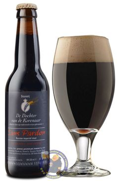 Our New Beer: De Dochter van de Korenaar Sans Pardon 11° Available at http://store.belgianshop.com/season-beers/2098-de-dochter-van-de-korenaar-sans-pardon-8-13l.html Very dark brown to black color, medium to full sized a bit creamy light brown head that lasts forever and leaves fair to good lacing. Smell: roasted malt, coffee notes and small chocolate finish. Taste: the palate is nice for 11 ABV the beer is not so oily and quiet easy drinkable(if you like the style). Good density on mouth…