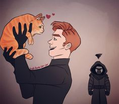 Kylux ft. Millicent :D I dunno who added the cat to this fandom, but I love it xD