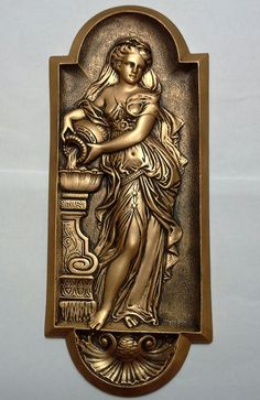 Art nouveau/Roman vintage style deco plaque от Bellacraftworks