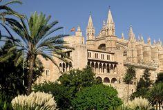 Cathedral of Santa Maria of Palma, Majorca, Spain.