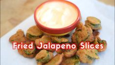 Perhaps one of the most delicious spicy recipes around - fried jalapeno slices immediately make your appetizer table better. The combo of fried breading and fiery fresh bite is just irresistible. Spicy Recipes, Veggie Recipes, Healthy Dinner Recipes, Vegetarian Recipes, Cooking Recipes, Fresh Jalapeno Recipes, Pepper Recipes, Beef Recipes, Spicy Appetizers