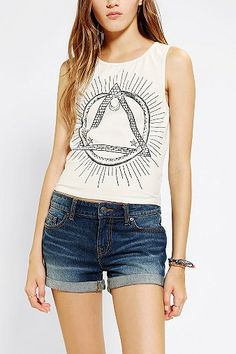 Truly Madly Deeply Pyramid Cropped Tank Top