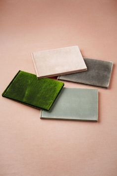 "Velvet Notebooks, hand-sewn lined signatures covered in silk velvet 6.25""H, 9.25""W. $58 at BHLDN"