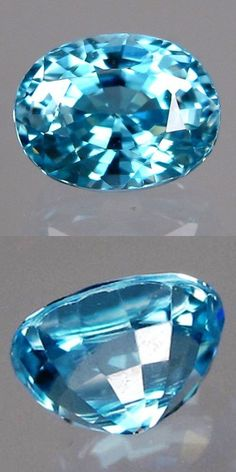 Zircon 10286: Blue Zircon - 1.96 Ct., 7.2 X 5.5 X 4.8 Mm - 100% Natural Cambodian BUY IT NOW ONLY: $36.99
