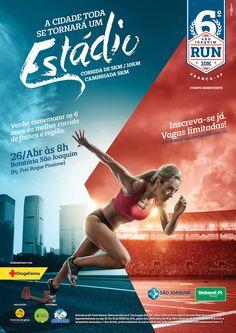 Identidade Visual do evento São Joaquim Run 10k. Cartaz de divulgação, uniforme competidores, medalhas. Todo material para divulgação e decoração do evento.