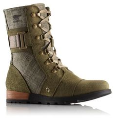 Bold, military–inspired Major Carly, crafted of soft, velvety suede and textile with metal accents, this boot will soon become your everyday favorite. Molded EVA midsole and herringbone rubber outsole with leather wrapped heel deliver comfort and support. March on.