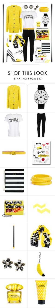 N° 76 | Featured Piece: SKINNY JEANS by #yellowyippie on Polyvore featuring Mode, Pink Tartan, Rosendahl, Topshop, Blumarine, Kate Spade, ZENZii, Jimmy Choo, MAC Cosmetics und Black #yellowyippie  #ootd  #getthelook  #polyvore  #fashion #featuredpiece #chic #yellow #black #stripes  #casualoutfit  #yellowdress #statementtshirt