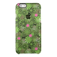 Girly Punk Skulls on Flower Camo background Uncommon Clearly™ Deflector iPhone 6 Case