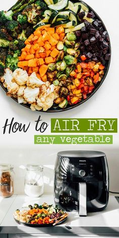 Air Fryer Recipes Breakfast, Air Fryer Dinner Recipes, Air Fryer Oven Recipes, Breakfast Meals, Recipes Dinner, Air Fryer Recipes Vegetables, Fried Vegetables, Veggies, Healthy Vegetables